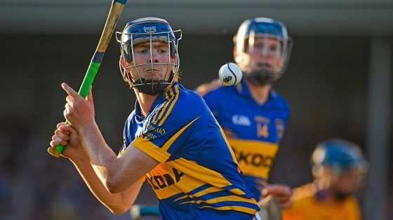 Silvermines and Tipperary Hurlers Jason Forde in action