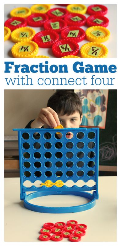 Fraction Game { with connect 4 } - Learning After School