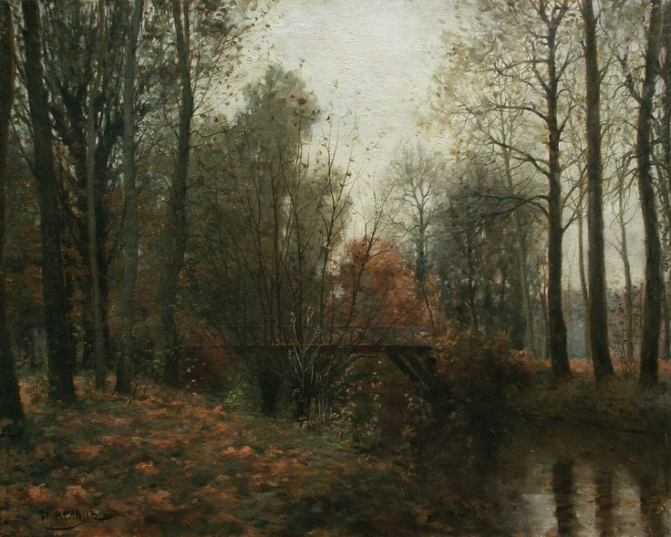 Autumn, the bridge in the park, 1900, Ivan Avgustovich Weltz (Russian, 1866–1926).