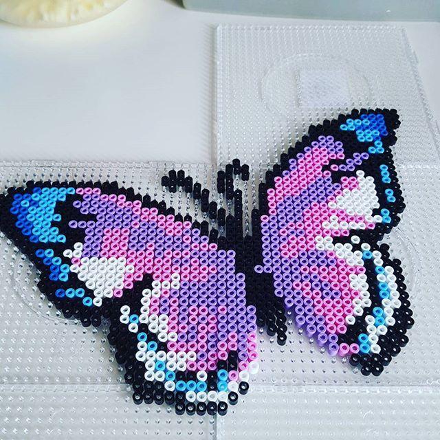 Butterfly hama beads by  mrs.soellingvraa