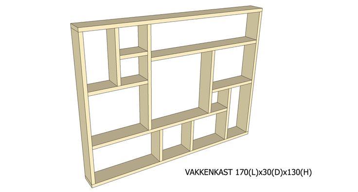 Vakkenkast 1201 (wordt gemaakt van steigerhout)