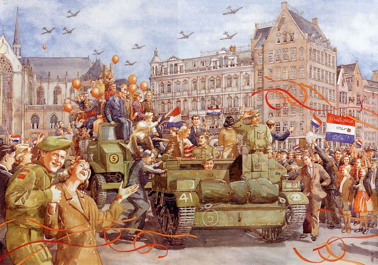 On 5 may we celebrate the date back in 1945 when the Germans in our country were beaten and the Netherlands got their freedom back .
