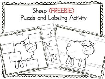 From Teach Me Visually (TeachMeVisually):  This freebie contains 1 sheep puzzle and labeling activity.  Use it to learn and practice labeling sheep parts.  If you like this freebie, please check out the complete farm animals set! Farm Animals: 10 Animals Parts - Cut & Paste and Labeling Activity