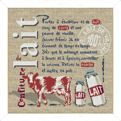 """Lilipoints - Gourmandise """"Confiture de lait"""" 197 x 178 points  G012"""