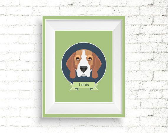 Custom Pet Portrait - Personalized Digital Illustration by VizualStorm. #custompetportrait #digitalpetportrait #petsympathygift #giftfordoglovers #petillustration #catportrait #dogportrait #animalportraits