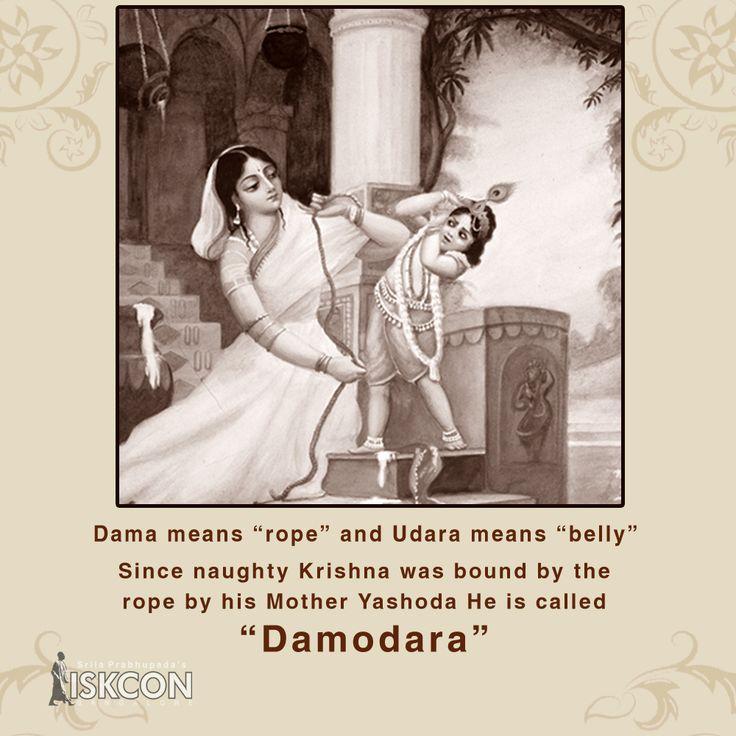 What does Damodara Mean?