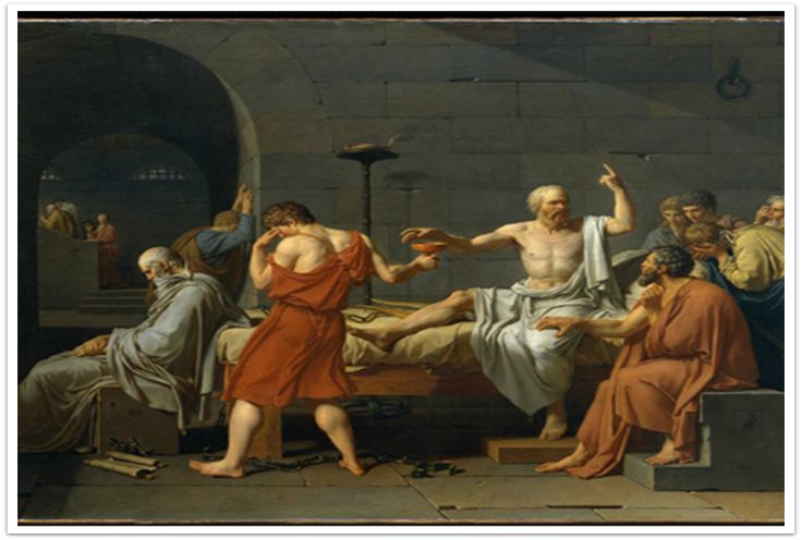 소크라테스의 죽음, 자크 루이 다비드, 1787