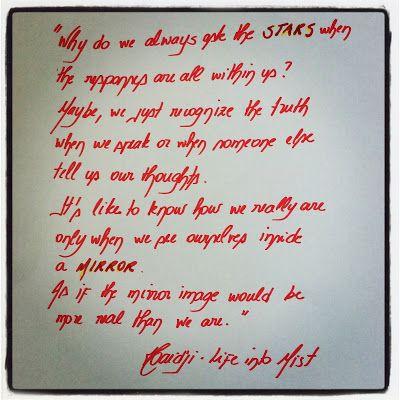 Haidji: Questions - Book Quote - Life into Mist - Haidji
