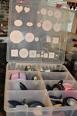 #papercraft #craft supply #organization    Paper Punch Storage Using plastic organizer bins