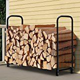 Amagabeli 4ft Outdoor Firewood Log Rack for Fireplace Heavy Duty Wood Stacking Holder for Patio Deck Metal Logs Storage Stand Steel Tubular Wood Pile Racks Outside Fire place Tools Accessories Black   FIREWOOD ORGANIZED: This 4 feet log rack measures 48 x 48 x 14 inch, 6.7″ off the ground...