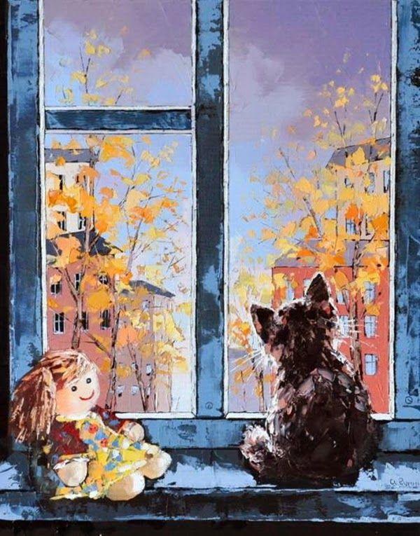 Рисунок дождь за окном