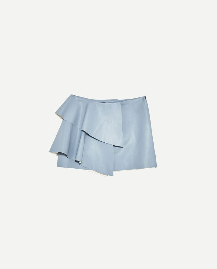 Image 8 of LEATHER-EFFECT MINI SKIRT WITH FRILLS from Zara