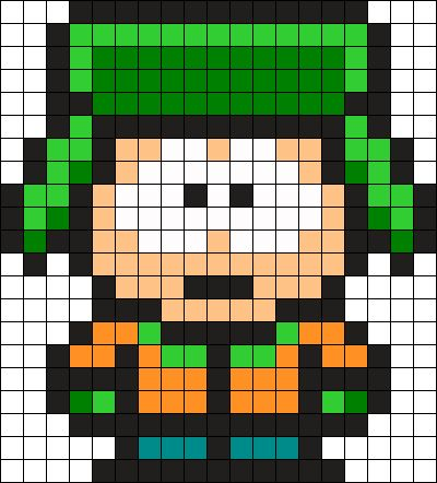 Kyle South Park Perler Bead Pattern / Bead Sprite