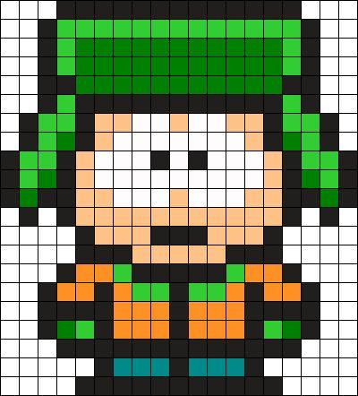 Kyle South Park Perler Bead Pattern / Bead Sprite