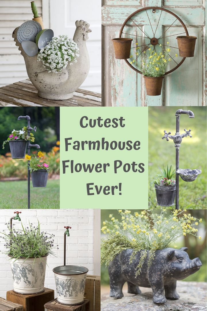 Pinterest & We have the cutest farmhouse style flower pot containers for your ...