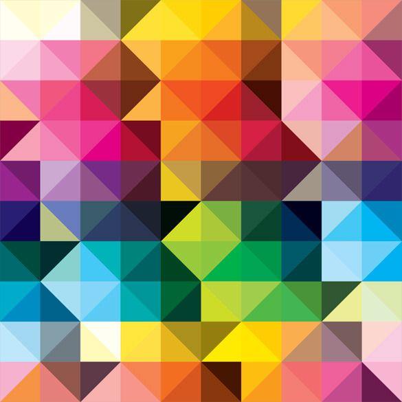 Colores geométricos.
