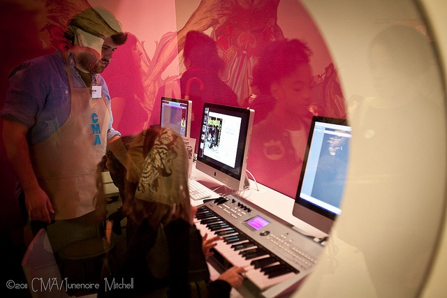 Listen to Korean Music in our Sound Booth