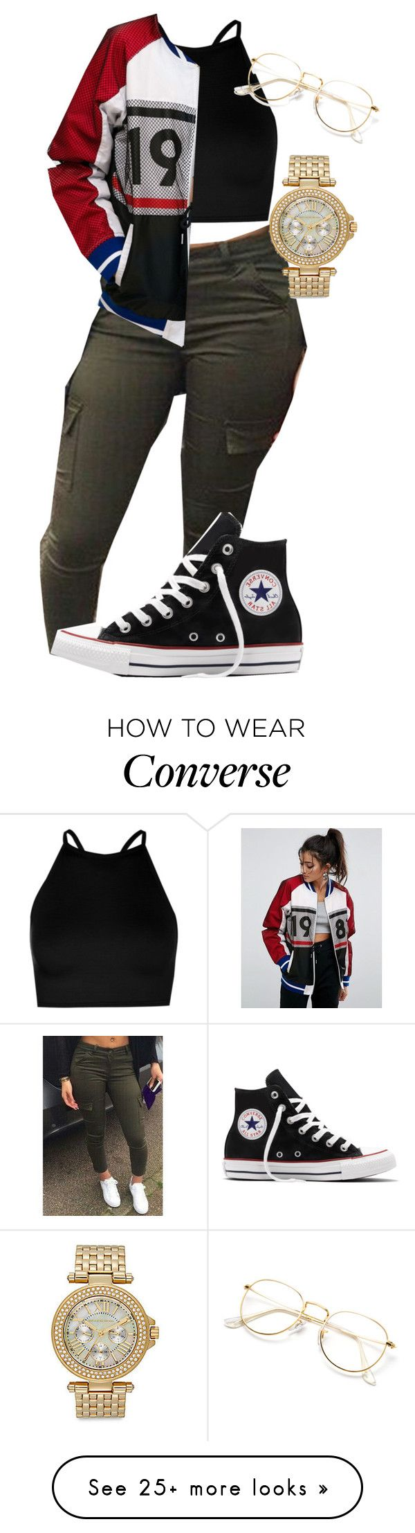 """Untitled #849"" by thisisarisworld on Polyvore featuring Boohoo, ASOS, Converse and Saks Fifth Avenue"