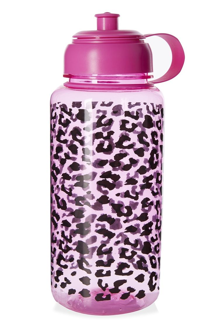 Add some colour to your workouts this year with the Primark animal print water bottle!