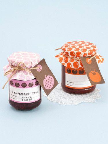 蓋に柄をつけるのがかわいい。Preserve decorating kit from Papermash UK