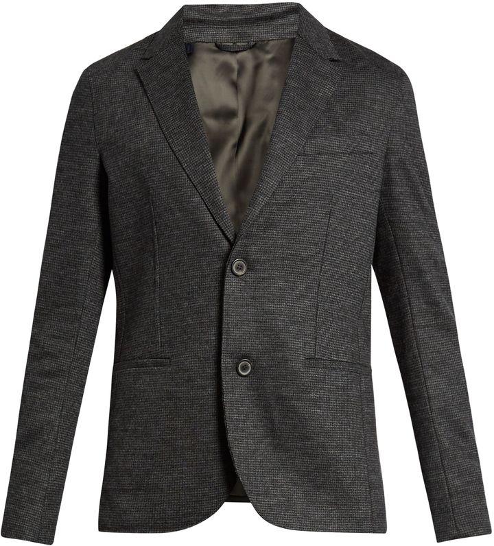 LANVIN Hound's-tooth wool jacket