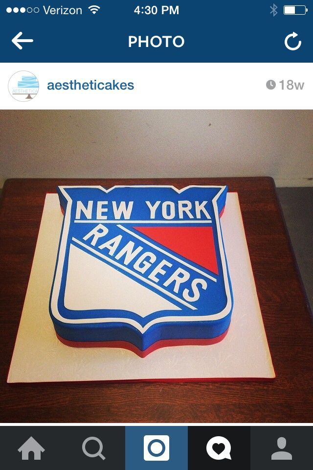 Rangers emblem hockey cake!