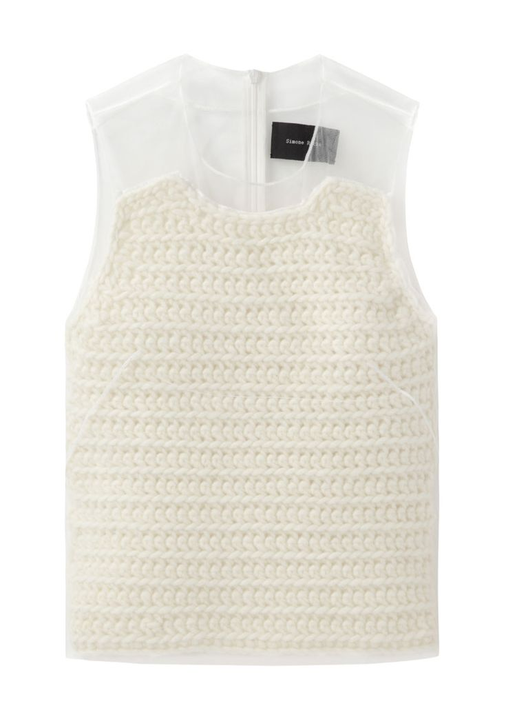 Simone Rocha / Knit Top with Tulle Layer #minimalist #fashion #style