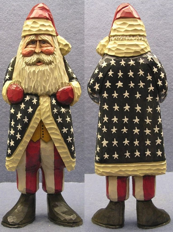 Carved Santa 15-40 by Woodbuster in Collectibles, Holiday & Seasonal, Christmas: Current (1991-Now)   eBay