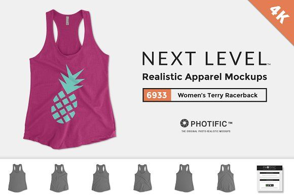 Next Level 6933 Terry Racerback Tank by Photific on @creativemarket