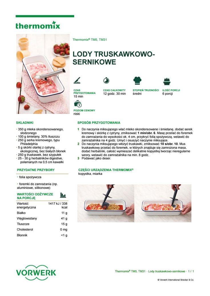 Lody truskawkowo sernikowe