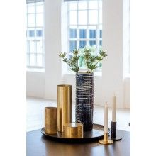 H Skjalm P. Candle Holder Matt Brass --- Candle Stand Matt Brass by H. Skjalm P. of DenmarkColour: Matt Brass Size: Height 7 cm