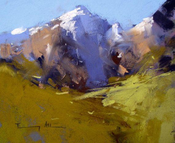 Tony Allain Original Pastel Painting from New Zealand