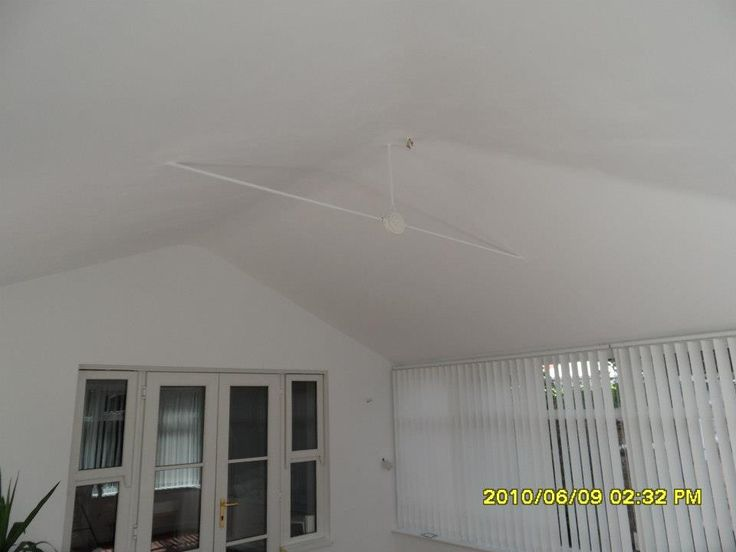 The transformation of a conservatory roof! Clean, smooth and fully insulated against the elements.