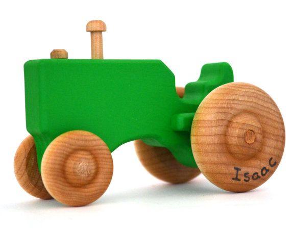 Personalizada de Tractor de juguete de madera  por hcwoodcraft