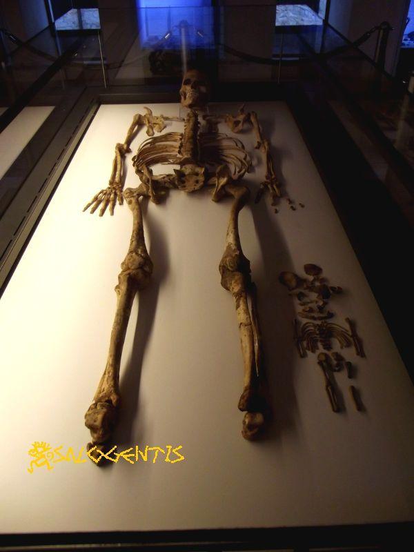 Lo scheletro di Delia e di suo figlio, museo delle civiltà preclassiche, Ostuni