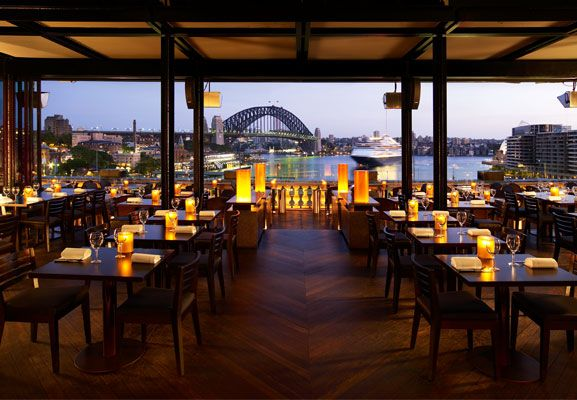Dine or lunch at Cafe Sydney in Cicular Quay. The food is incredible, the cocktails divine, the view: spectacular.