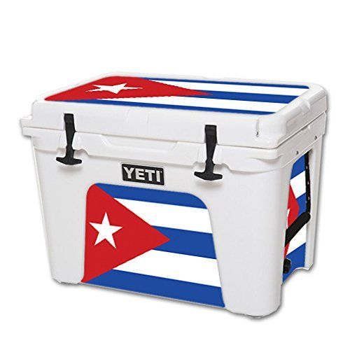 MightySkins Protective Vinyl Skin Decal for YETI Tundra 50 qt Cooler wrap cover sticker skins Cuban Flag -- Be sure to check out this awesome product.(This is an Amazon affiliate link and I receive a commission for the sales)