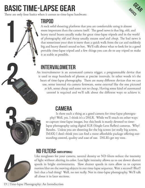 Time-Lapse Photography Equipment Guide to Getting Started -- #timelapse #photography #phototips