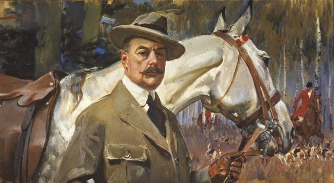 Wojciech Kossak - Self-portrait with a horse