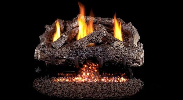 Real Fyre Charred Frontier Oak Ventless Gas Logs Set