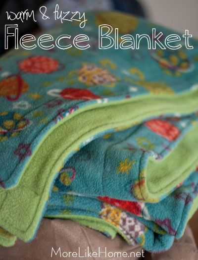 Fleece Blanket Tutorial {MoreLikeHome.net}