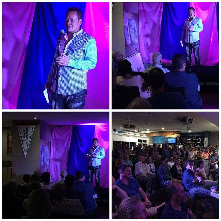 Some photos from last night's SOLD OUT Tickled Pink: Stand Up To Cancer fundraiser at the West Beach Surf Life Saving Club.  LOC & LOL www.loctran.com.au #adlfringe #loctran