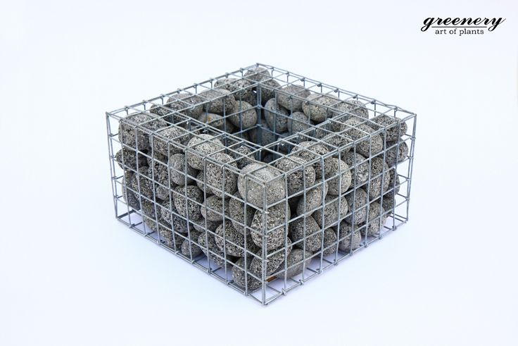 Gabion pot suitable for orchids with anthracite pebbles – Gabion creations by greenery #gabion #gabioncreations #pots #greenery #airplants #succulents #cactus #plants #chania #greece