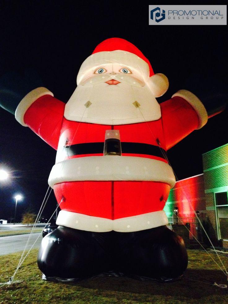 Inflatable Santa Clause at night PromotionalDesignGroupcom 40
