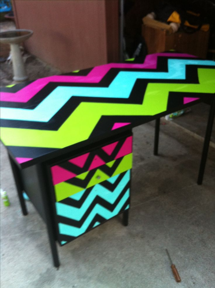 My refurbished teacher desk you could do this with for Duct tape bedroom ideas