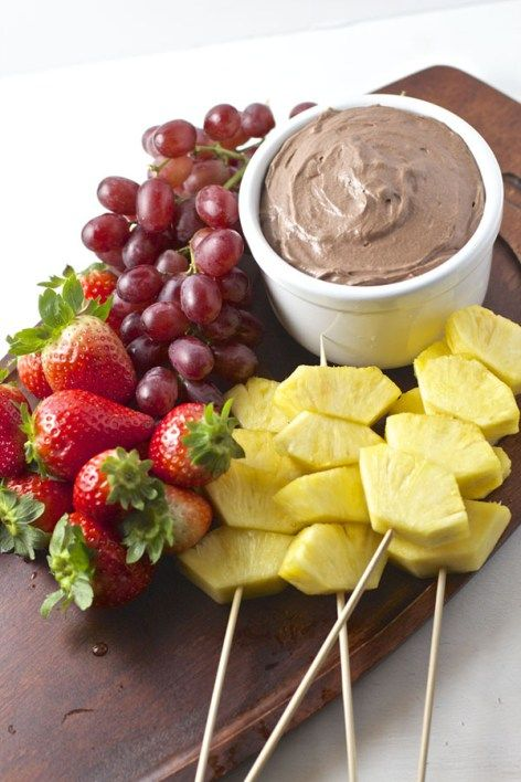 This light and fluffy Chocolate Cream Cheese Fruit Dip is perfect as a party appetizer or a delicious afternoon snack with the family. | 365 Days of Easy Recipes