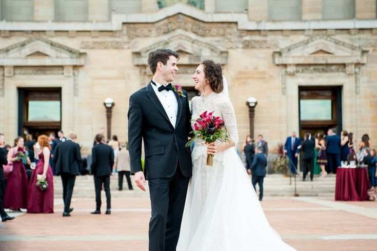 Elaina & Brian | Soldiers & Sailors Museum| Grand Ballroom | Pittsburgh Wedding | Fall Wedding | October Wedding | Rania's Catering | Goldstein Photography | Grey Phoenix Lighting | Bride & Groom | Patio Cocktail Hour