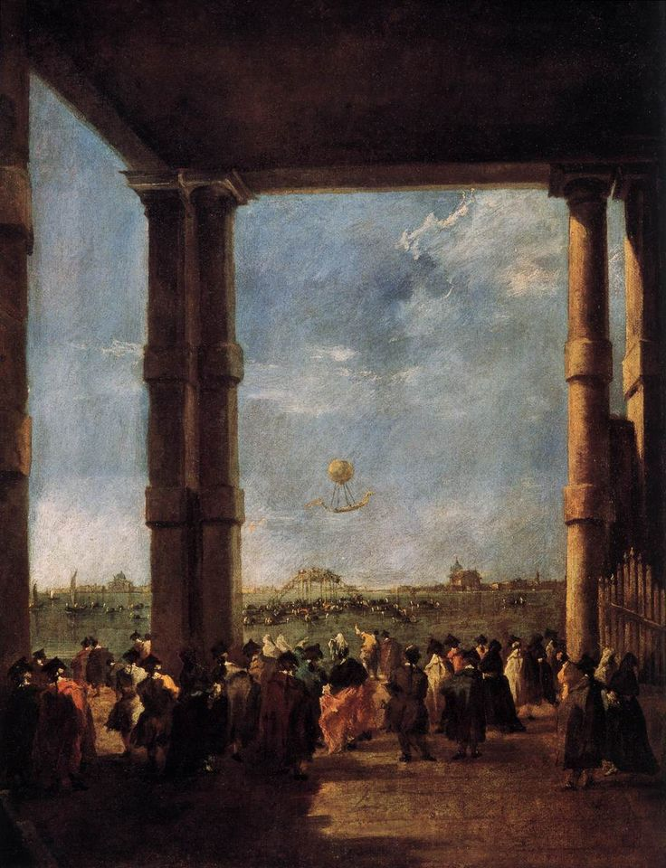 Hot Air Balloon Rising by Francesco Guardi, 1784  Discover the coolest shows in New York at www.artexperience.com