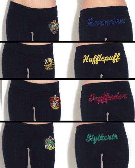 Hogwarts House Yoga Pant by Hanavas $35.00 NEEEEEED awesome!