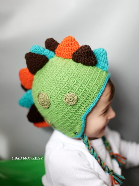 DINOSAUR HatBaby boy hats BOYS Hat Toddler Hat by 2badmonkies. $35.00, via Etsy.